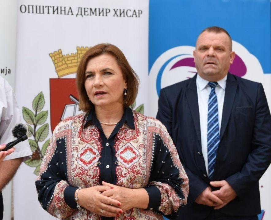 Министерката Шахпаска: Нега Центарот во Демир Хисар ќе обезбеди помош и нега во домот за 21 лице над 65 години, социјалната реформа продолжува
